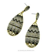 Latest jewelry gold earring fashion basketball waves earrings