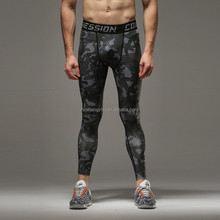 Men's Compression Skintight Base Layer Pants Workout Jogging Football Basketball