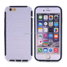 2 in1 tpu + pc dual layer case for iphone 6 plus