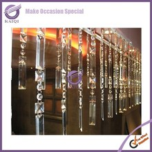 K4217 Fancy wedding decorative lighted beaded crystal acrylic curtain