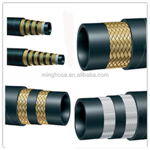 Flexible hydraulic rubber hose pipe R6