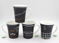 M77D7 custom logo black white coffee mug