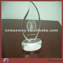 Custom Fashionable Flaming Clear Acrylic Perspex Challenge Trophy