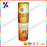 customized Tube wine box ,paper tube wine packing ,customized wine packing box