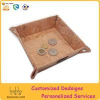 BOSHIHO eco-friendly cork tray for coins,accessories,keys