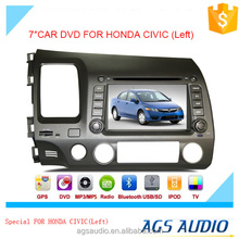 AGS special 7'' touch screen car dvd player for HONDA CIVIC LEFT