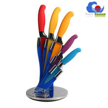 Acrylic knife block 7pcs knife set