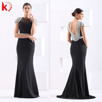 2014 formal evening gowns Sexy Beaded Black and White Elegant Evening Gowns Dress Models