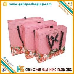 Wholesale 3D Printed Paper Bag Christmas Bag In Stock