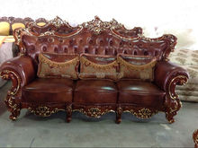 danxueya american country style sofa /big american style sofa/old style leather sofa living room set leather sofa A11