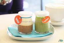 100ml puding cam süt şişesi cam yoğurt kabı plastik kapaklı