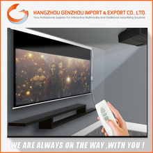 2015 150 inch 16:9 Home Cinema Electric Projection Screen / Ceiling Recess projector screen With Wireless Remote