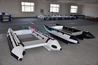 Liya folding boat 4people china inflatable boats small speed boats