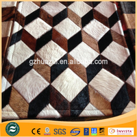 3D New Cowhide Rug Leather Cow Hide Animal Skin Patchwork Area Carpet
