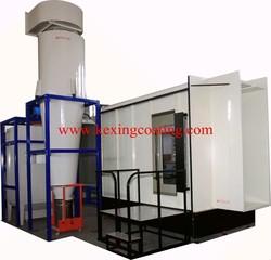High performance powder plastic booth, powder spray booth