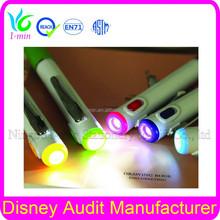 Plastic ball pen for promotion ballpoint pen LED light pen bp664