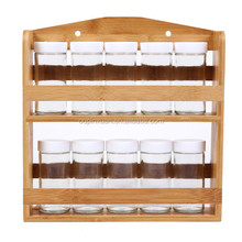 antique double tiers spice rack,bamboo kitchen rack