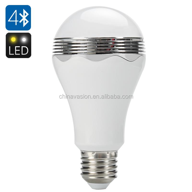 smart bluetooth led light bulb speaker e27 fitting 350 lumen 6000k. Black Bedroom Furniture Sets. Home Design Ideas