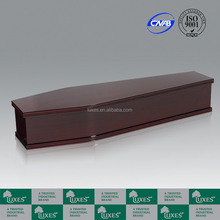 Luxes acajou papier cercueils Funeral cercueils à vendre