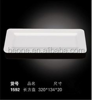 wholesale good quality hotel tableware white melamine oblong plate