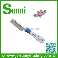 New Design dog cat grooming steel dog comb pet product wholesale