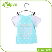 Direct buy China hotest baby tops kids wear 100 cotton girls t shirt wholesale