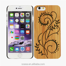 Christmas present wood 3d image back cover case for iphone 4