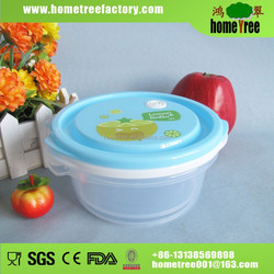 Round Freshness Preservation Food Grade Plastic Container Fruit Box Food Containers