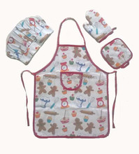 baby kitchen set/bib apron /oven glove/pot holder