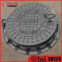 EN124 ductile iron locking system manhole cover factory sale