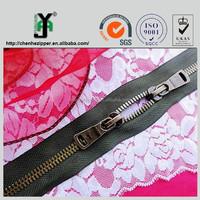 nickel free standard metal zipper gun metal color zips for clothes