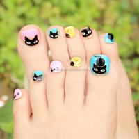 PA028 Toenails sticker 3d nail sticker golden korea toennails sticker toenails polish sticker