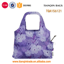 Wholesale hot sale purple polyester shopping bag