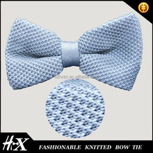 solid color polyester knitted bow tie for kids
