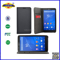 2015 Hot Selling Magnet Leather Wallet Case For Sony Mobile