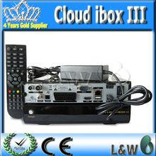 2014 Nube iBox 3 sintonizador gemelo Enigma 2 Linux HD Decodificador Nube Receptor ibox3 DVB S / S2 + T / C de la nube de Ibox i