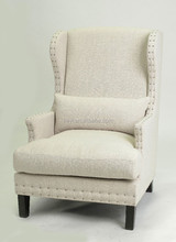 Antique Nailhead design Fabric Leisure Sofa with ARM (KS-966-1)