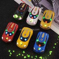 HOT!!!multicoloured flip sport car mobile phone F9