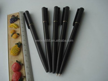 wholesales black color plastic ballpoint pen for hotel promotion