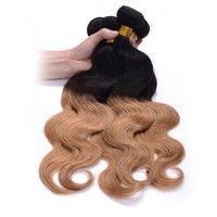 """Ombre braiding hair body wave TIB/27 20"""" 22"""" 24"""" 26"""" two tone golden color 4 pcs lot hot selling human hair extensions"""