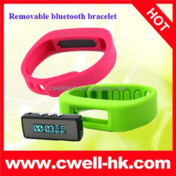 2015 NEW Arrival CW-TW016 LED Custom Silicone Bracelet Bluetooth Health Bracelet Smart Bluetooth Bracelet For Android IOS OS