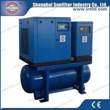 Drilling machine used Portable Screw Air Compressor for radial drilling machine or water well drilling machine