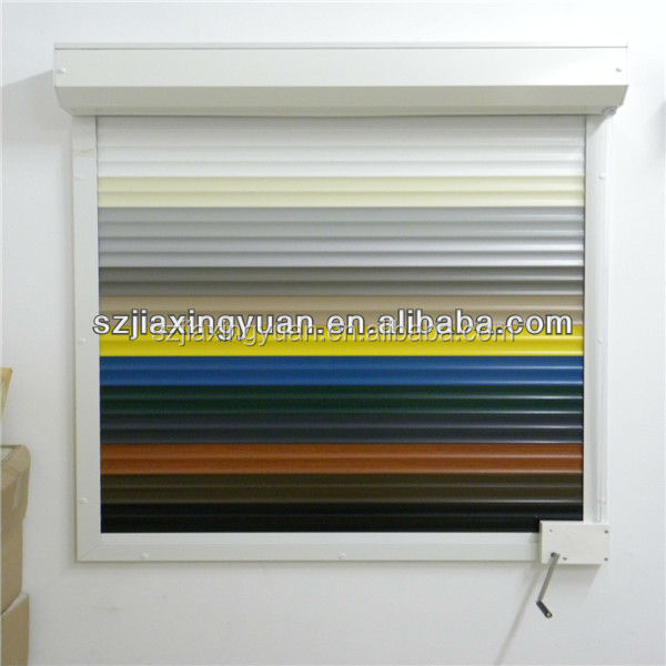 Hurricane aluminum sound proof roller shutters with pu for European shutters