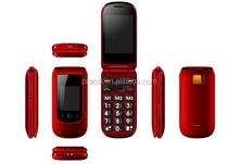 flip mobile phone open cheap dual sim card five SOS senior mobile phone