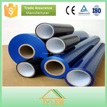 pe black white plastic film for plexiglass