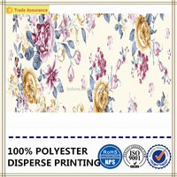 flower painting design disperse printing polyester brushed fabric textile fabric