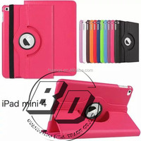 Wholesale Popular 360 Degree Rotating PU Leather Tablet case for iPad mini 4 For iPad mini 4 tablet case fast delivery