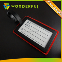 Factory Price High Quality Plastic Promotional Custom Soft PVC 3D Name Rubber Luggage Tag
