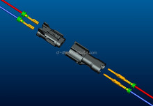 2 way plastic male and female wire to wire waterproof automotive connector