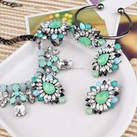 European major suit alloy Flower Pendant Necklace Chain diamond collar WLXL-1099